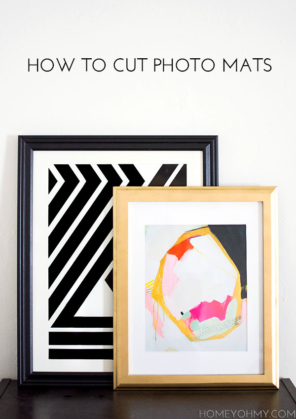 How to Cut Photo Mats - Homey Oh My