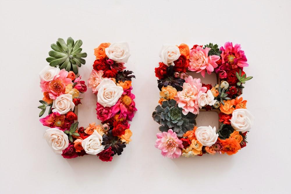 Real Flower Letters Diy Flowers Healthy