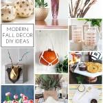 Modern Fall Decor DIY Ideas