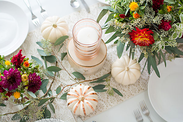 Fall Tablescape Details