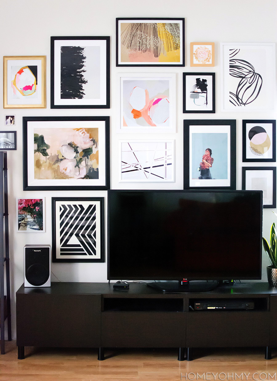 How to plan and hang a gallery wall for Wall hanging images