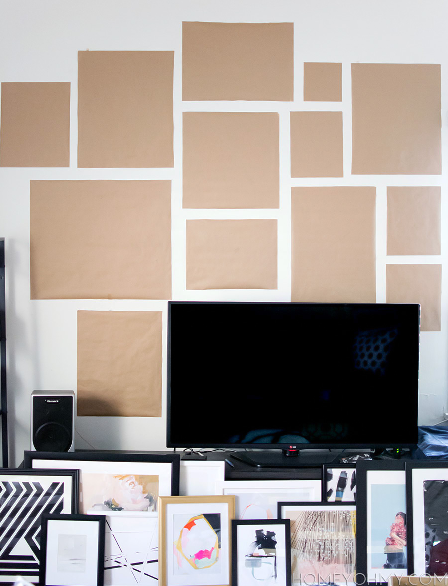 Gallery Wall how to plan and hang a gallery wall - homey oh my