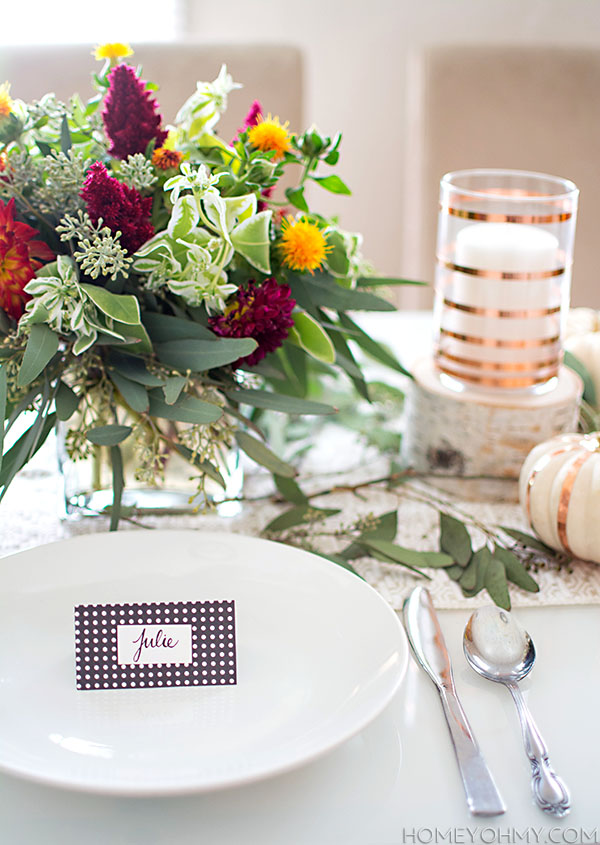 Simple and easy DIY place card