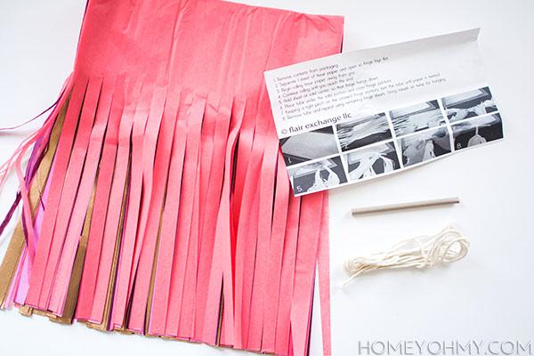 Sugar Plum Tassel Garland Materials