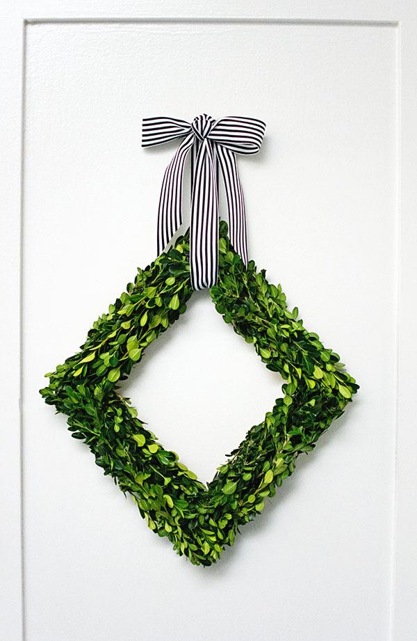 Diamond Boxwood Wreath