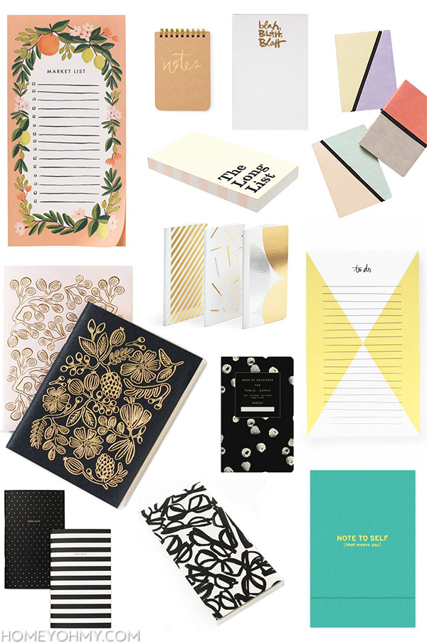 Cute notebooks and notepads