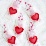 DIY Pom Pom Heart Treat Bags