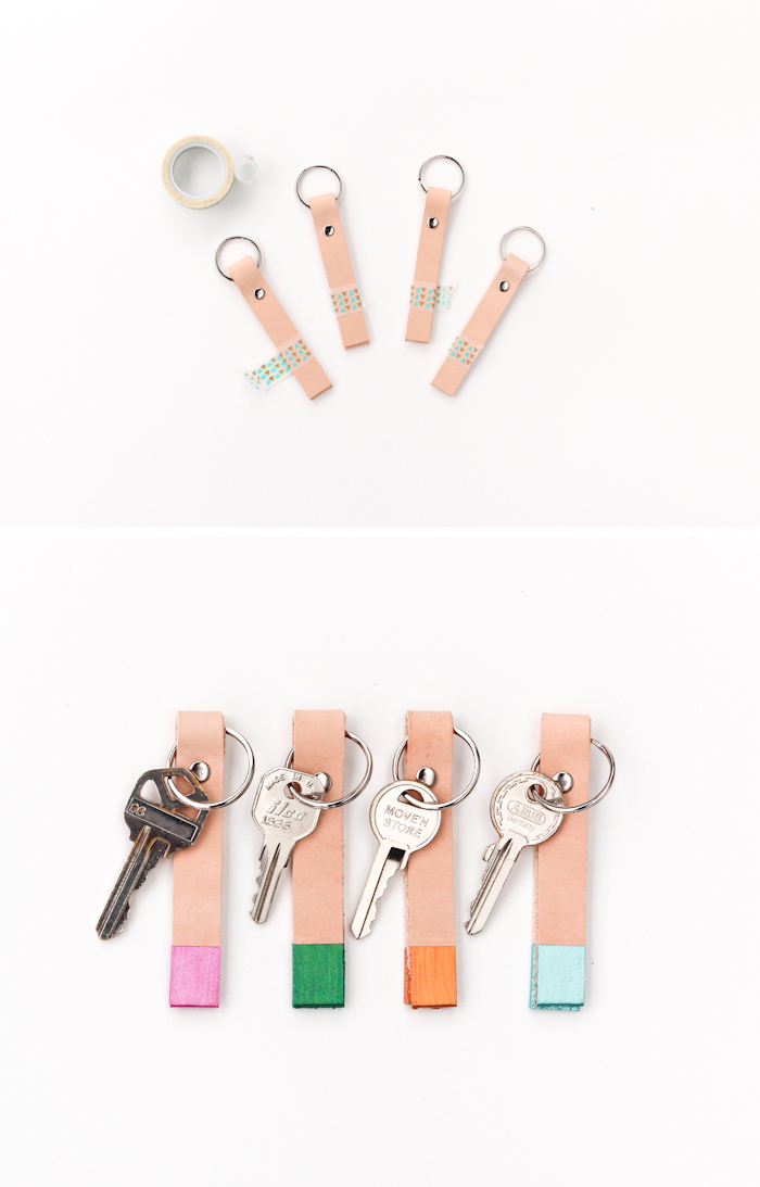 colorblock keychains