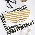 DIY Gold Striped File Folder