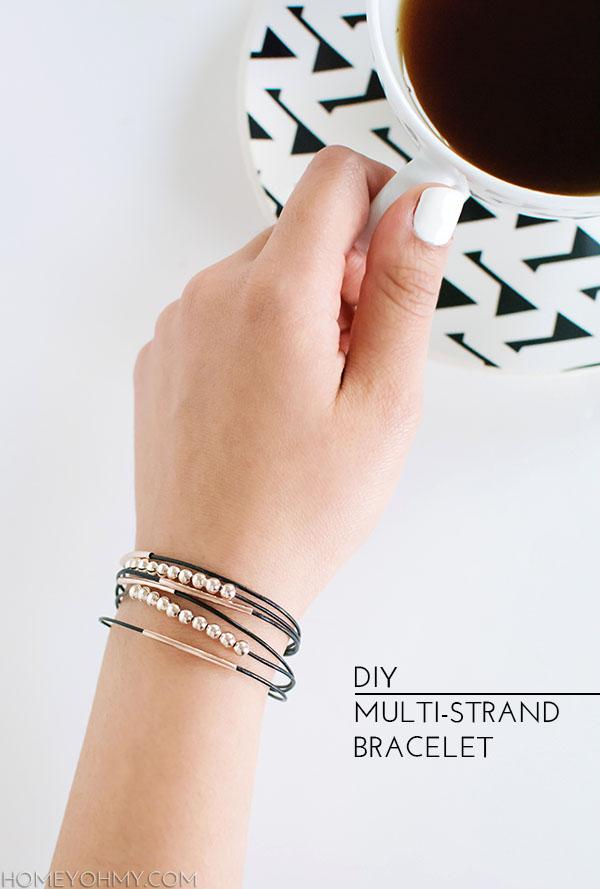 Bracelet multi-brins bricolage