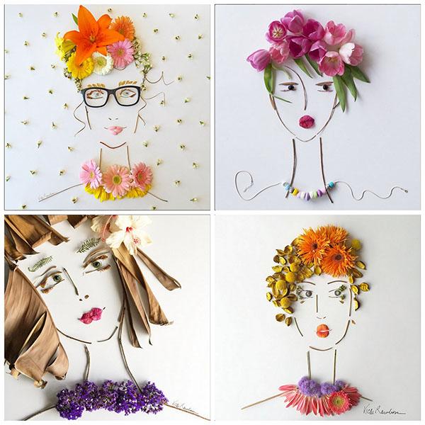 Sister Golden Flower Faces