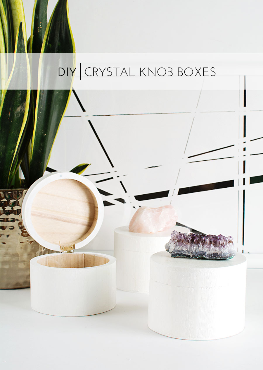 DIY Crystal Knob Boxes