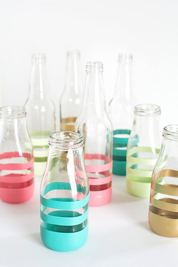DIY Spray painted bottles DIY Painted Bottles