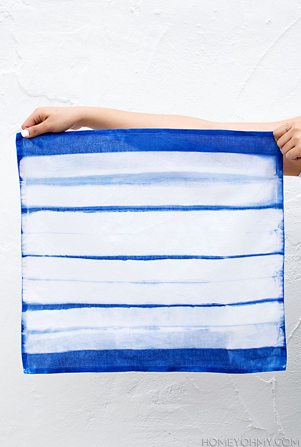 Striped Inkodye Napkin DIY