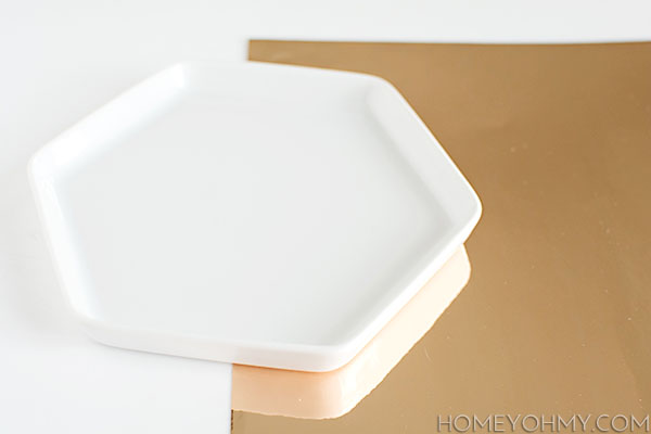 Tray and Gold Adhesive Mylar