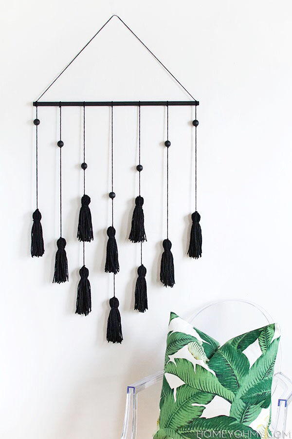 DIY Modern Tassel Wall Hanging - Homey Oh My