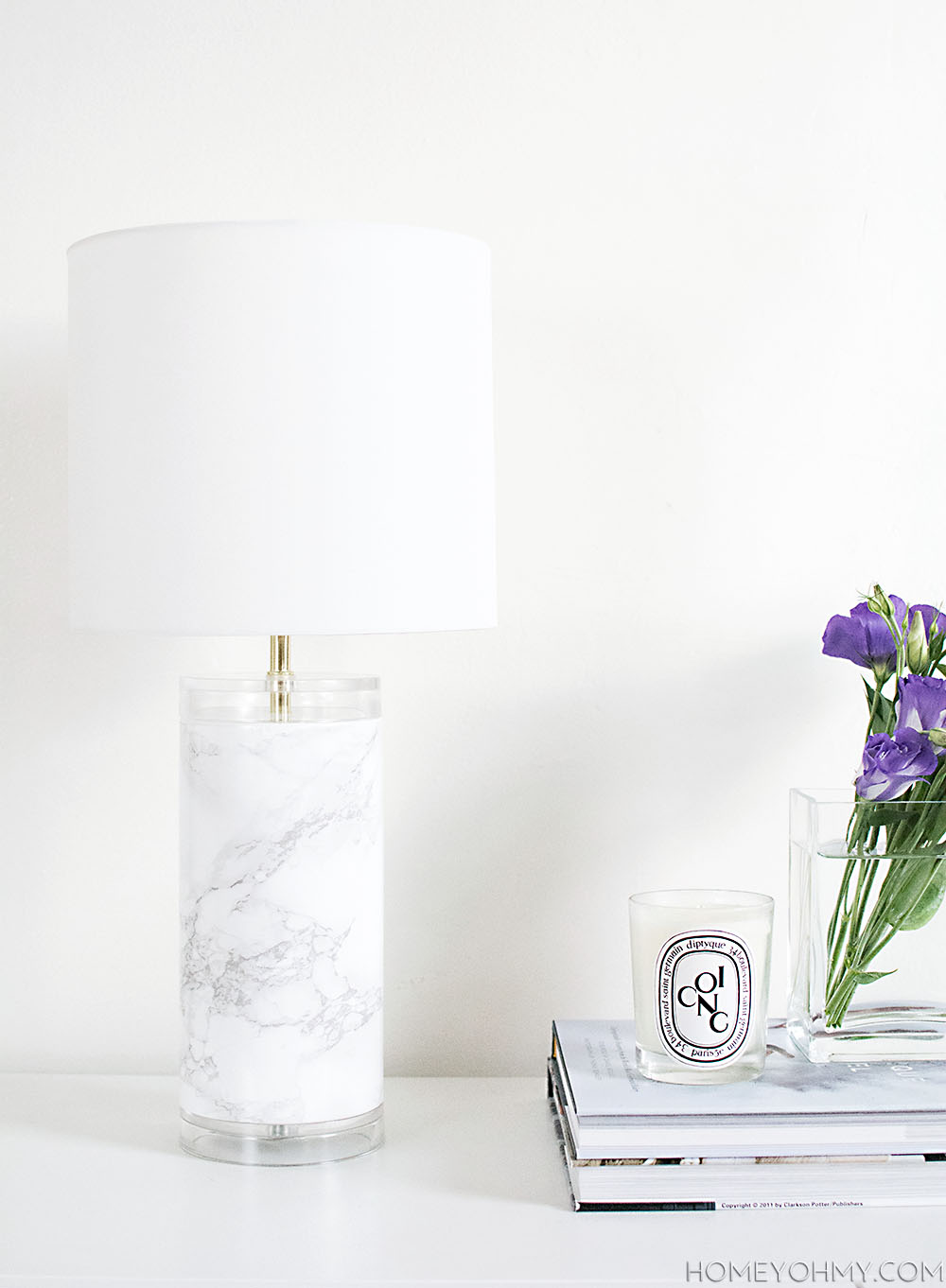 DIY  Faux marble lamp