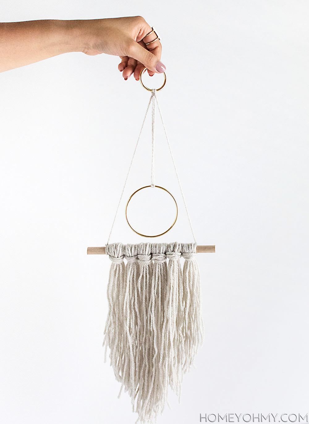 diy modern yarn hanging homey oh my pinterest