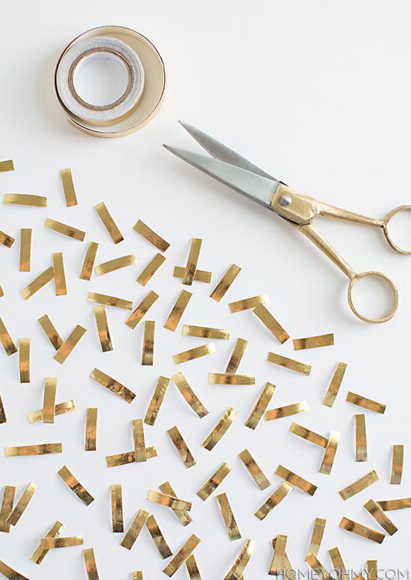 cutting washi tape