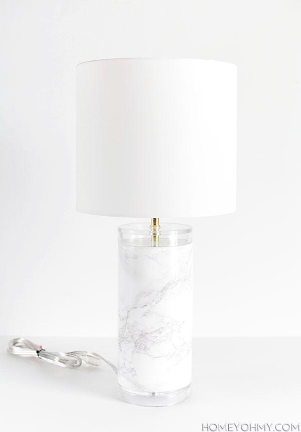 marble lamp DIY