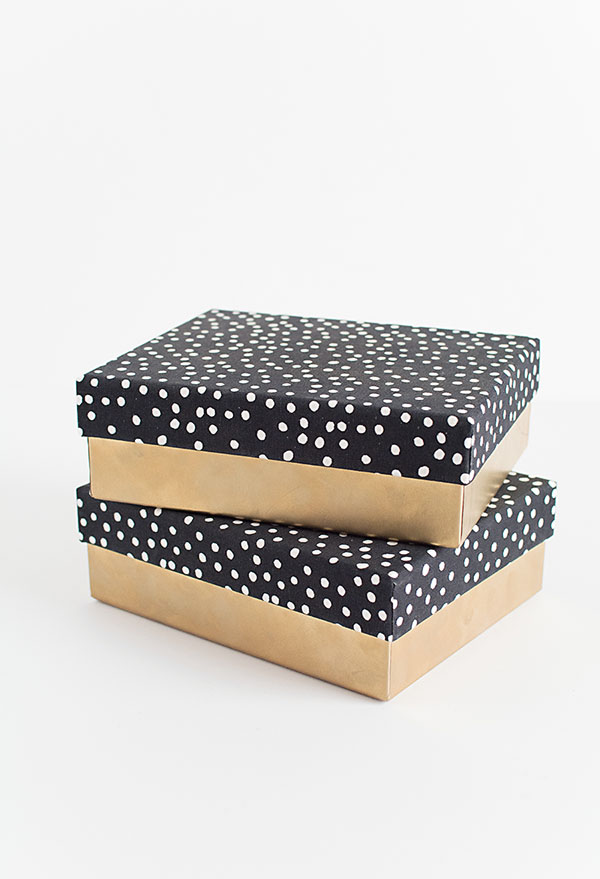 Fabric lid boxes