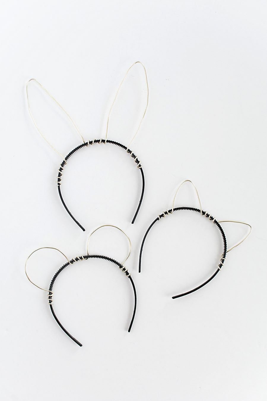 Gold wire animal ears DIY-2