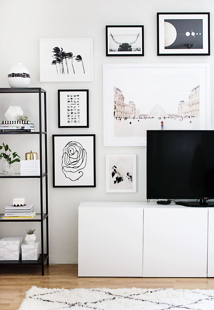Trend How to hang a TV gallery wall