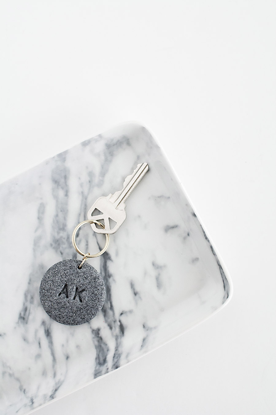 DIY Monogram Clay Keychain