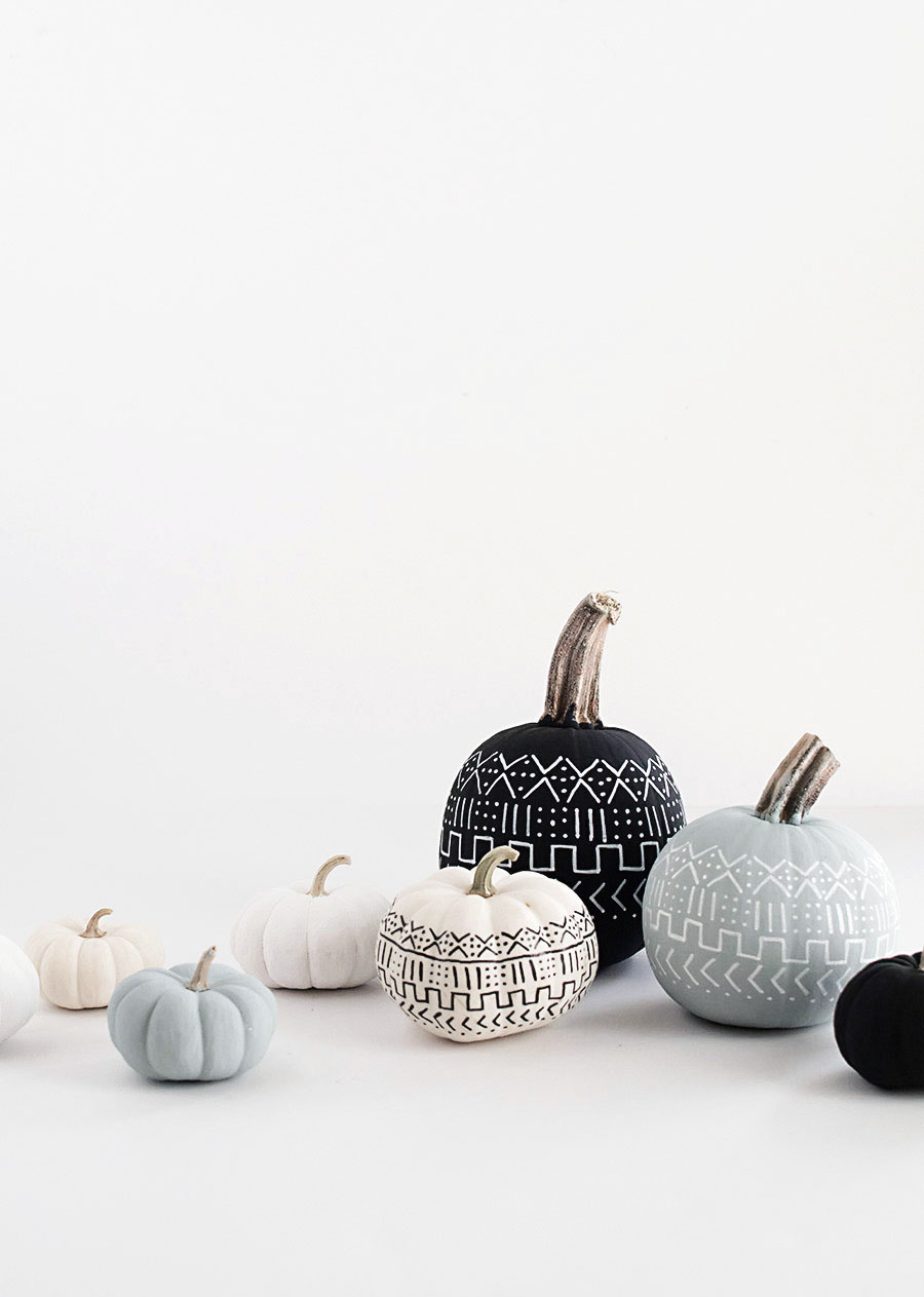 DIY Mud Cloth Pumpkins-2