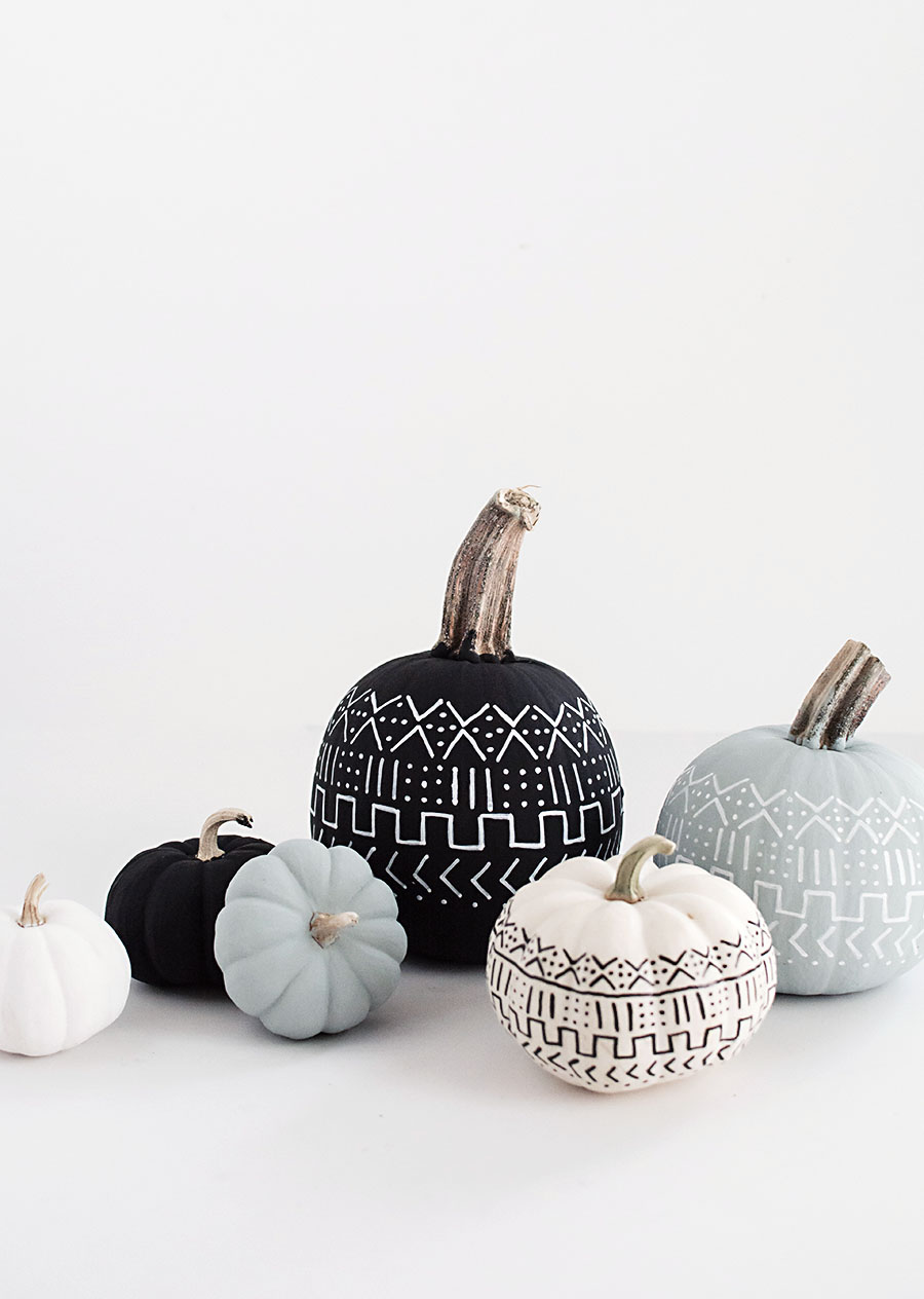 DIY- Mud Cloth Pumpkins