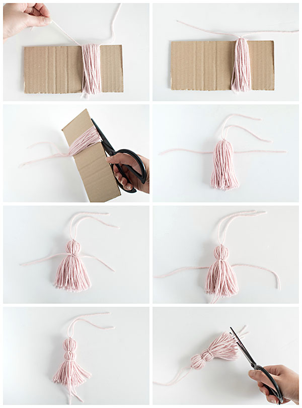 How to make a yarn tassel