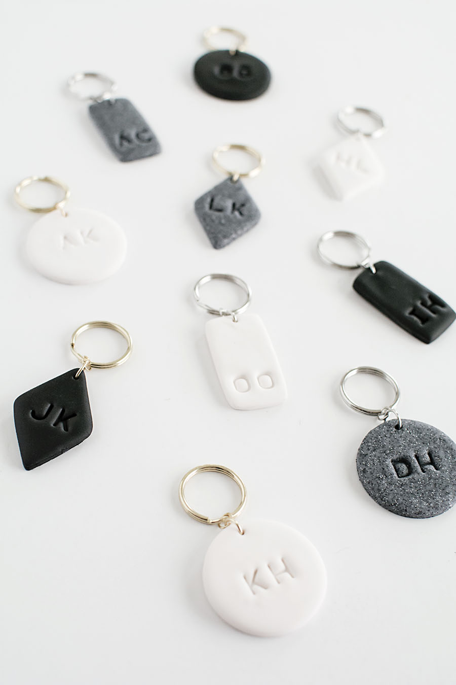 Monogram Clay Keychains DIY