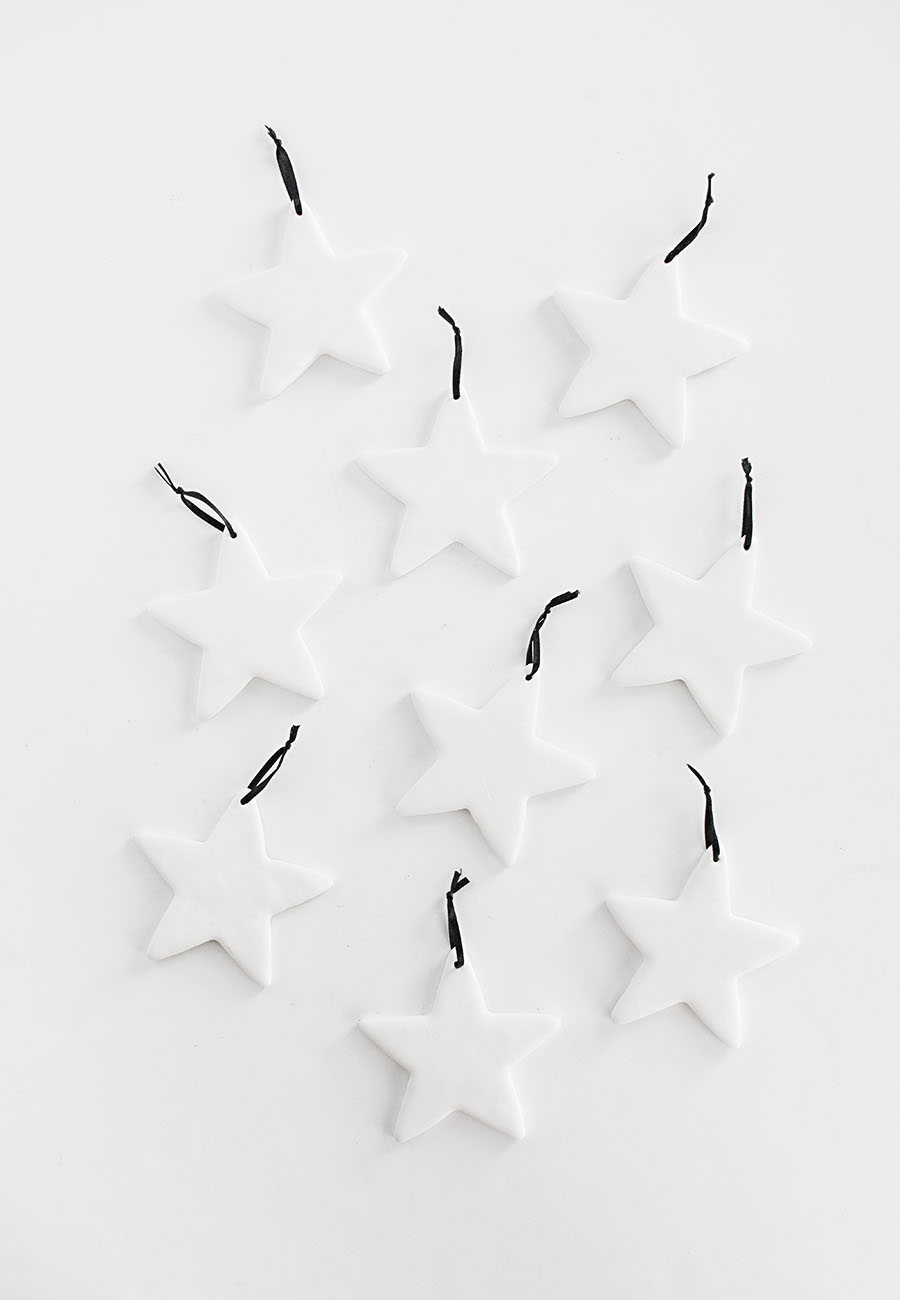 Clay star ornaments DIY