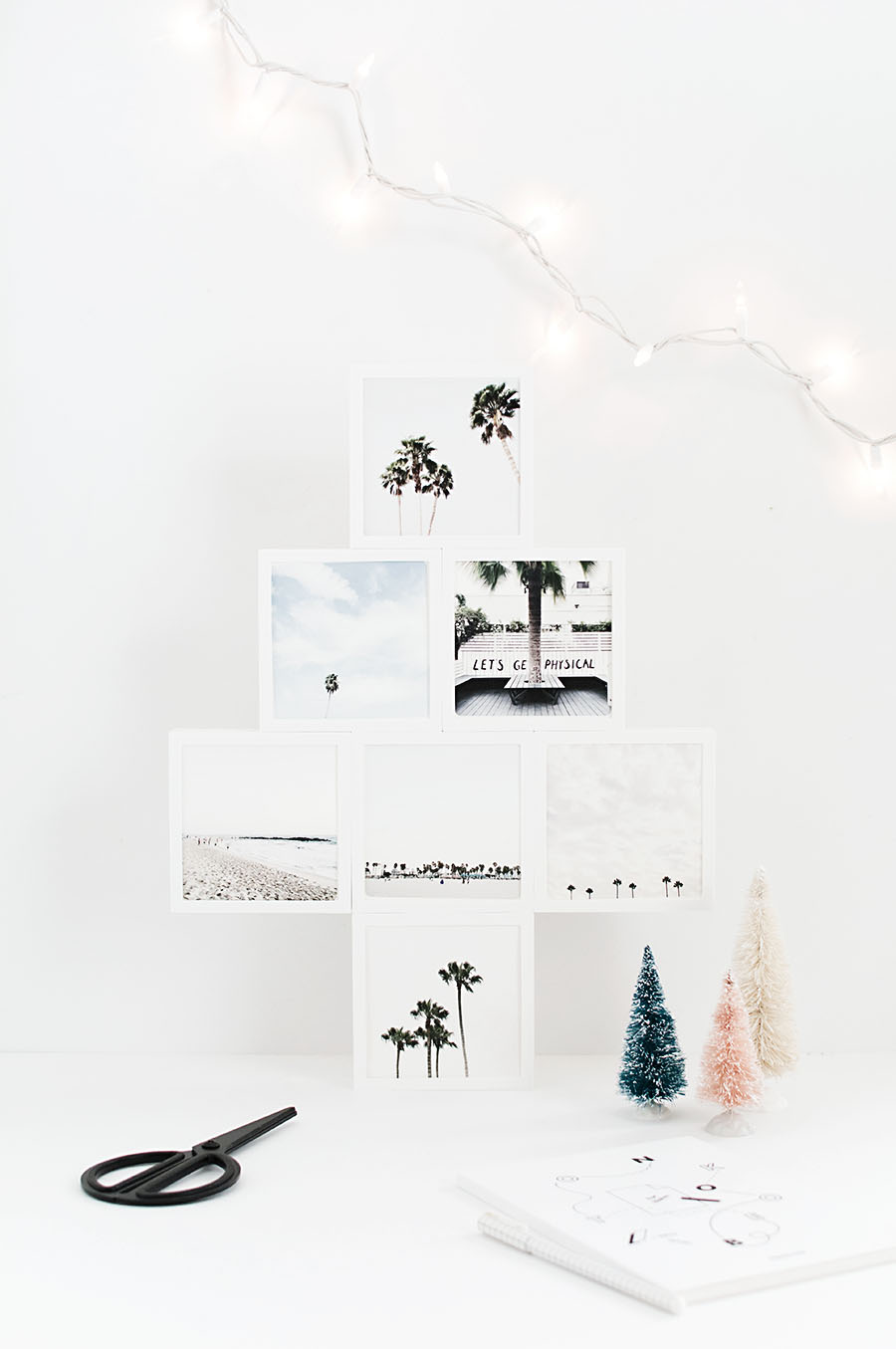 DIY Mini Photo Christmas Tree - Homey Oh My