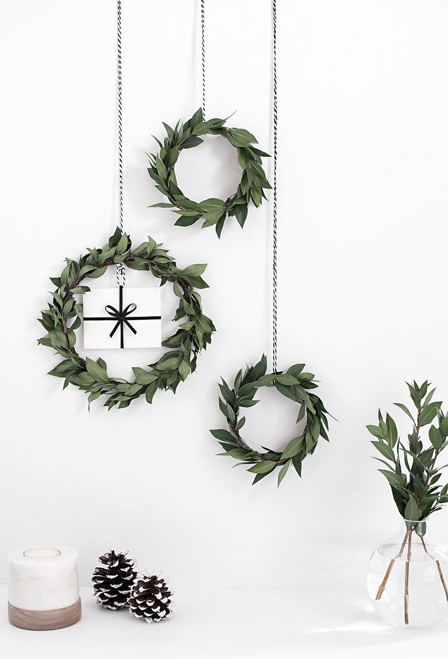 DIY Gift Card Mini Wreath - Homey Oh My