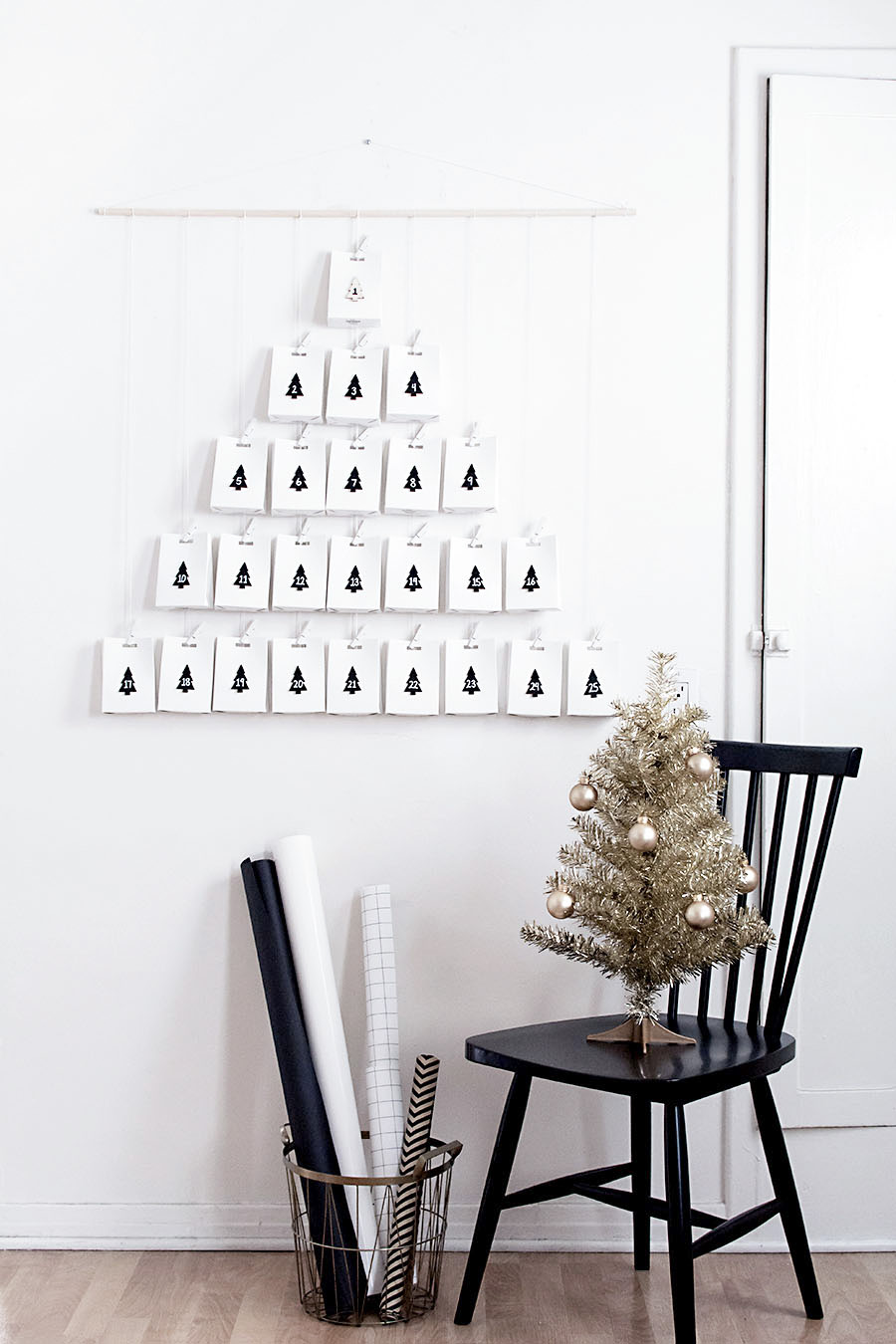 Diy modern advent calendar homey oh my diy modern advent calendar solutioingenieria