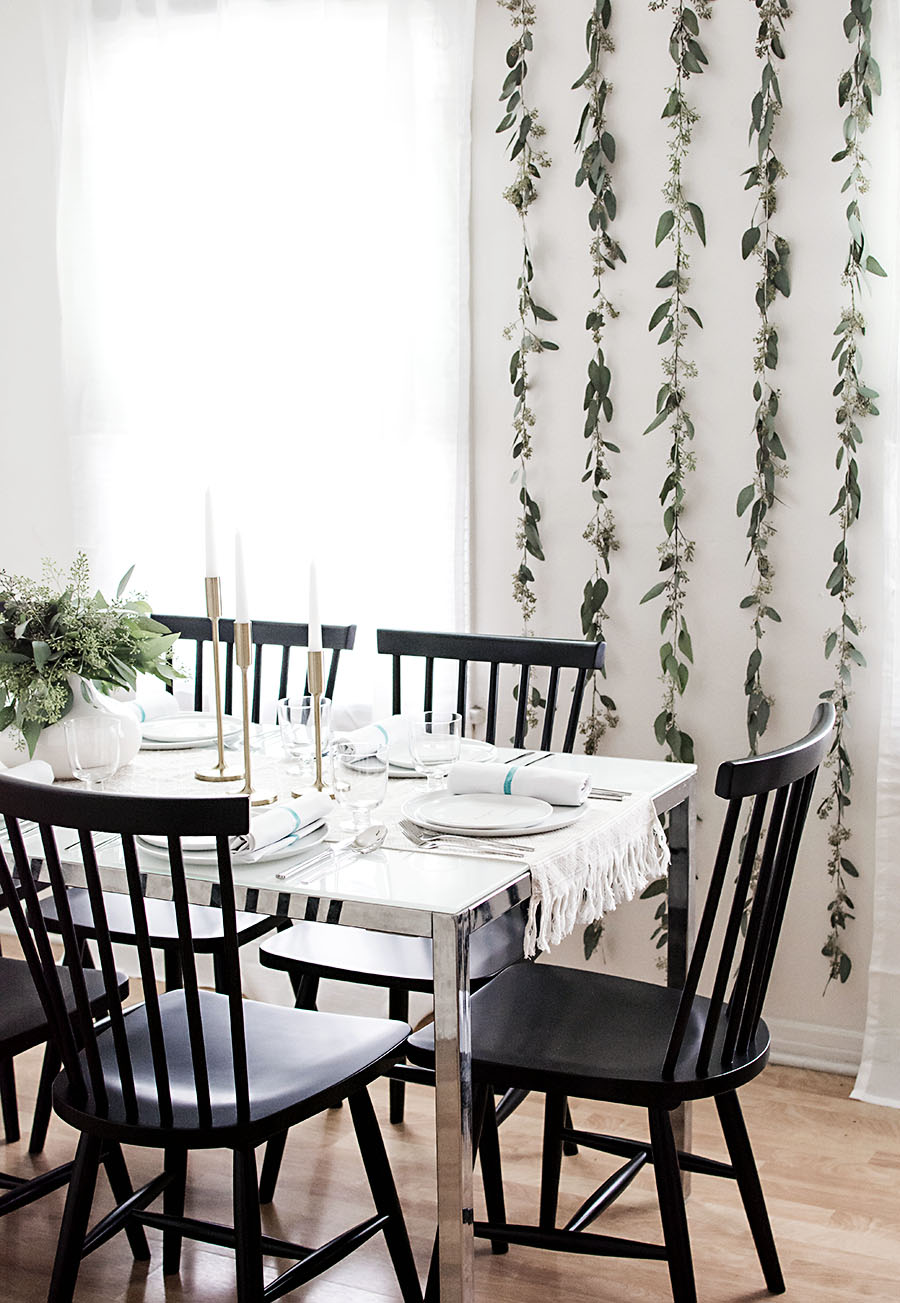 Seeded eucalyptus backdrop - Homey Oh My!
