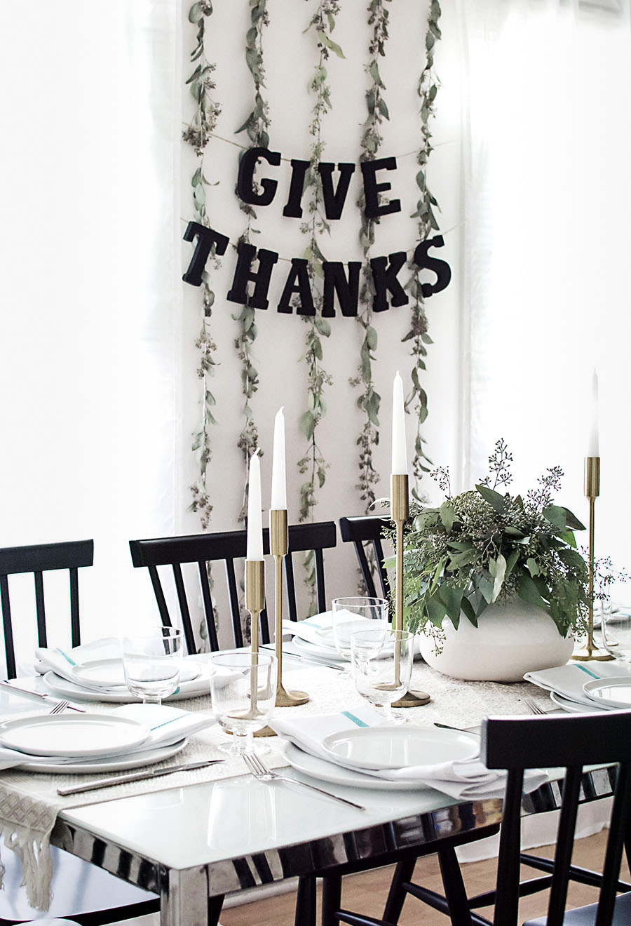 Thanksgiving garland DIY