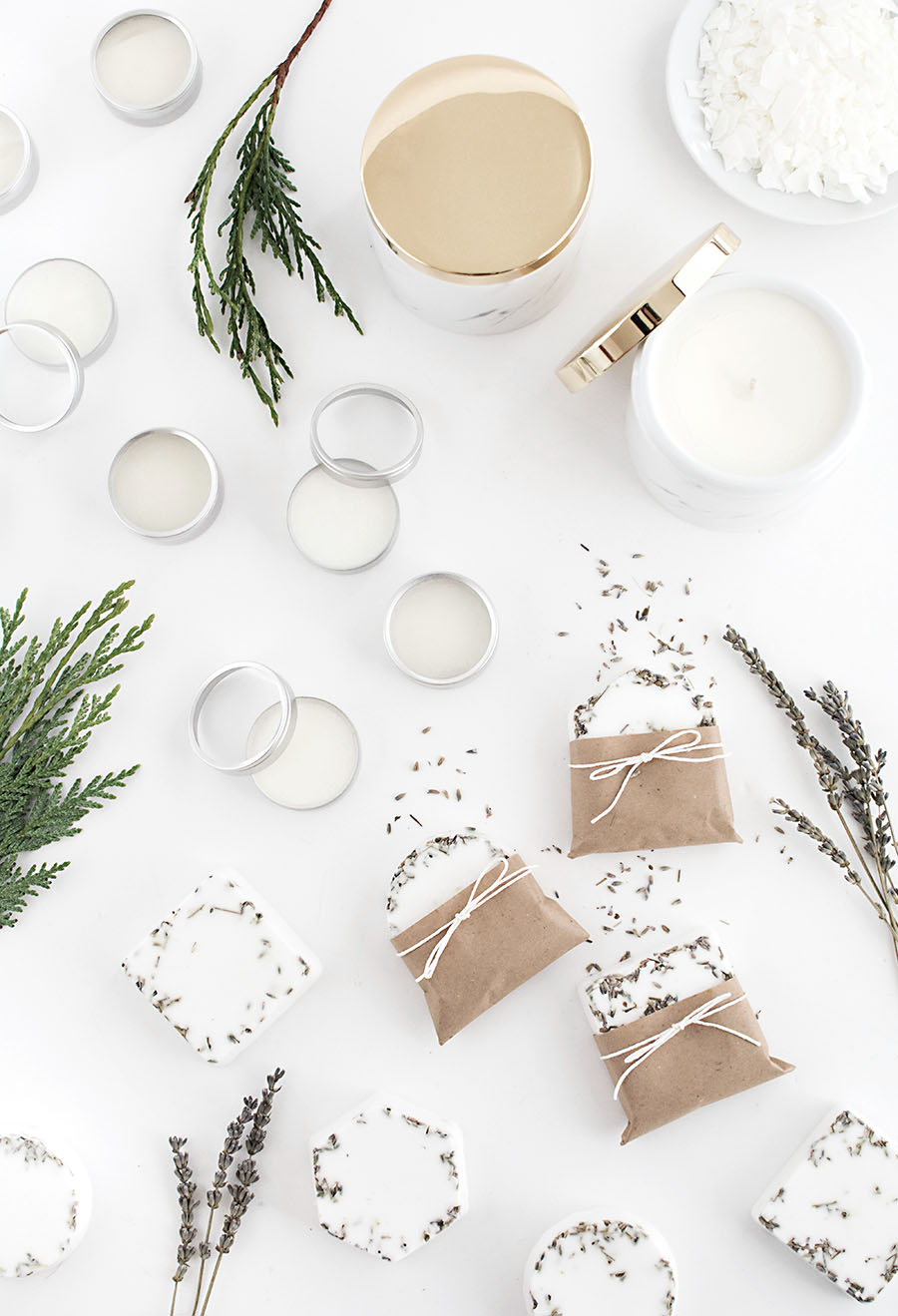 Last minute DIY gifts- candles lip balm and soap