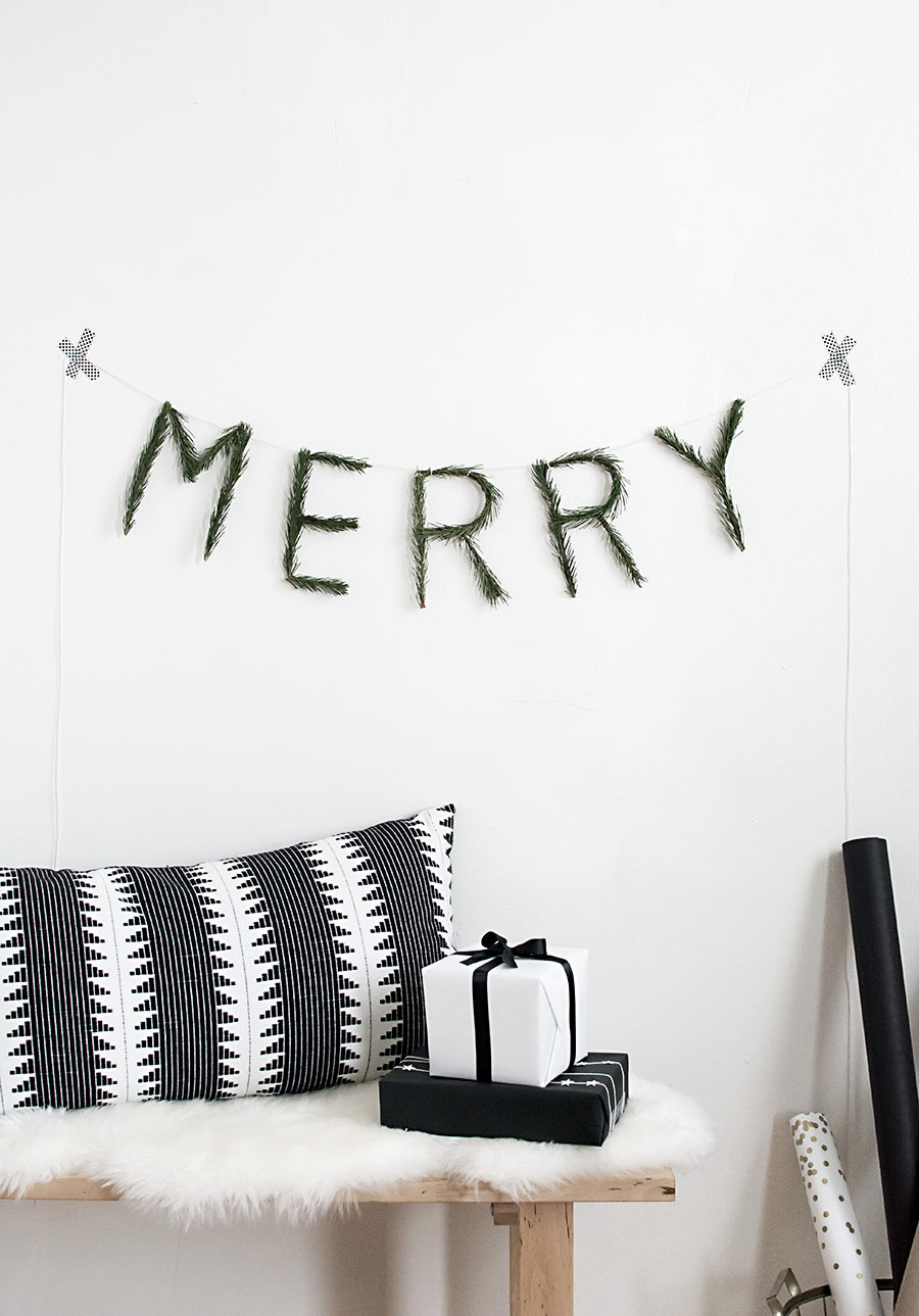 Merry garland DIY-2