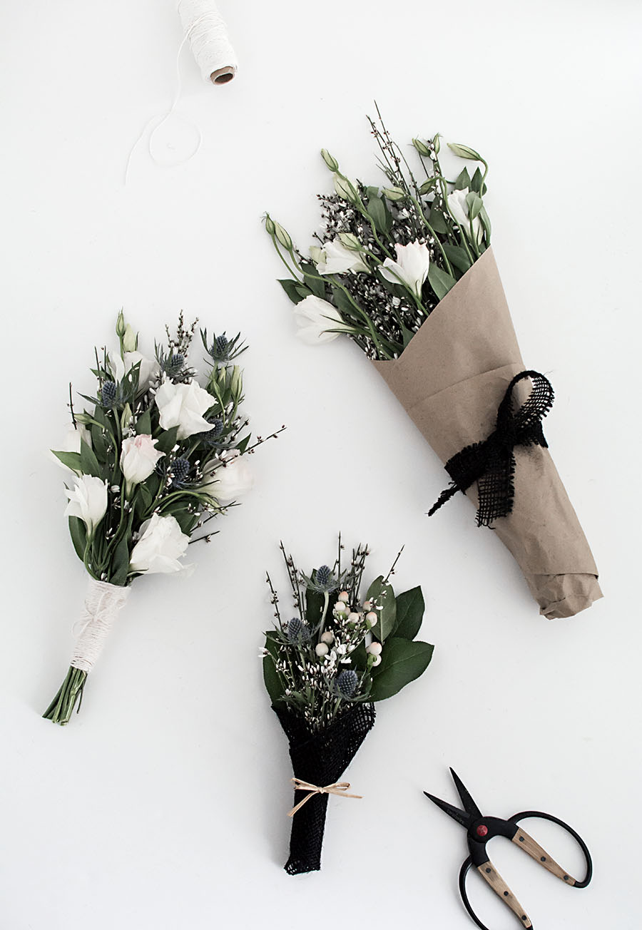 3 easy ways to wrap flowers homey oh my 3 easy ways to wrap flowers izmirmasajfo