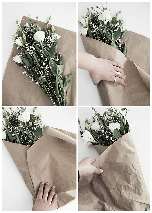 3 Easy Ways to Wrap Flowers - Homey Oh My