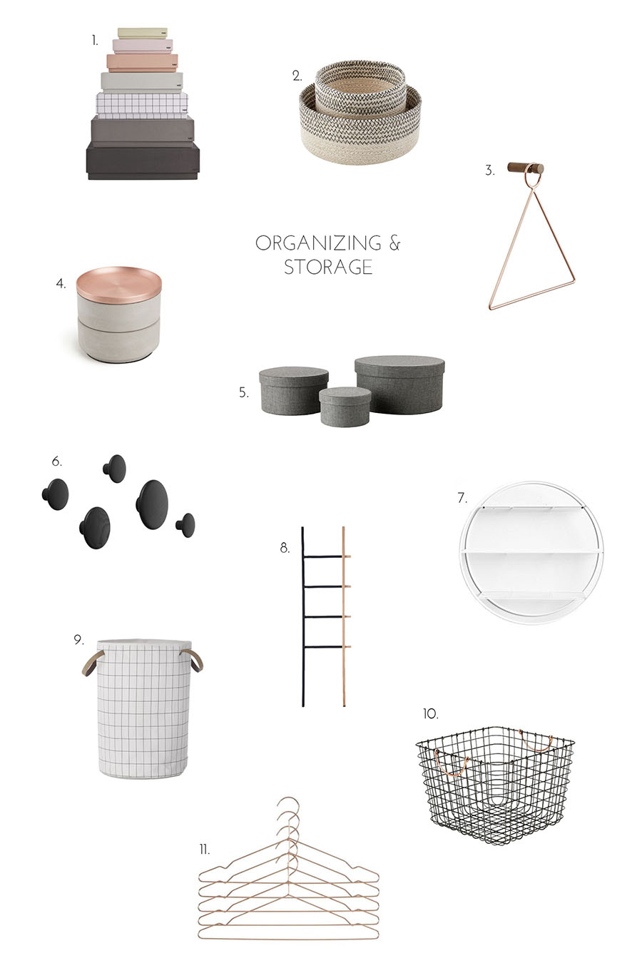 Organizing and storage accessories