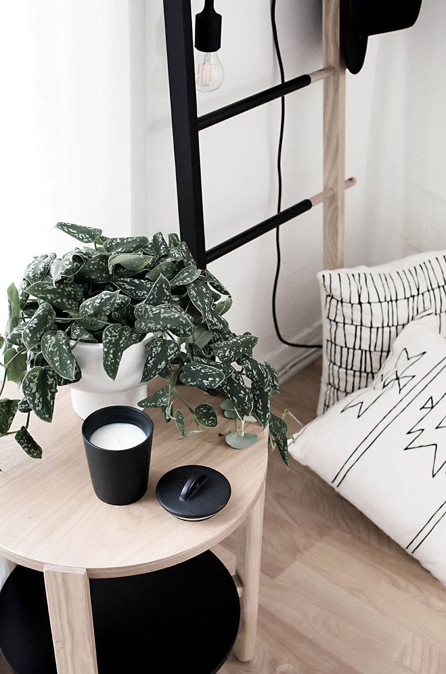 ive become pretty familiar with brands i adore and go to for home decor options and one of them is umbra the hub side table is everything i love about