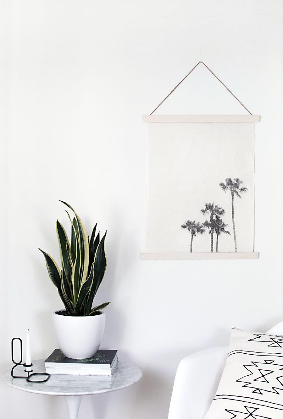 DIY image transfer wall hanging