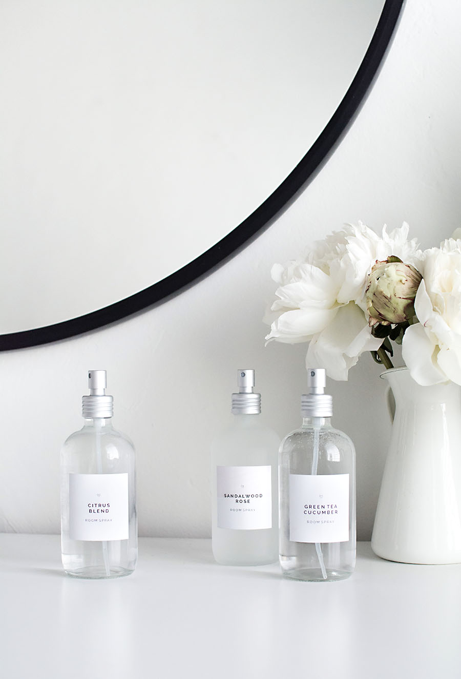 DIY Room sprays with printable labels