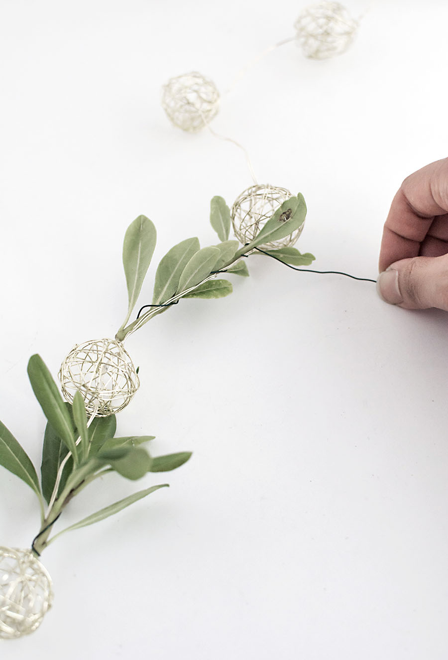 Diy Floral String Lights : DIY String Lights Garland - Homey Oh My