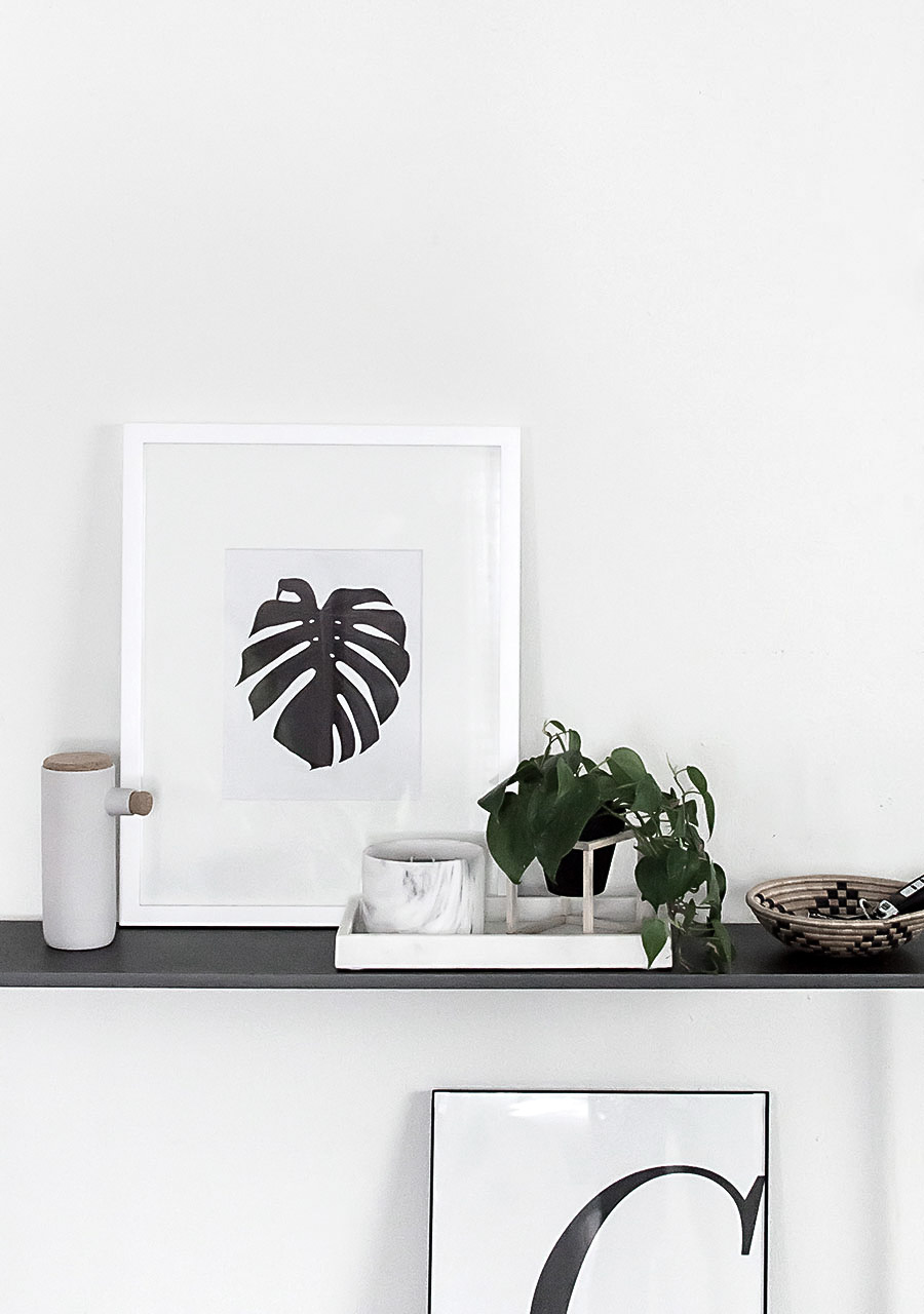Monstera Art Free Printable