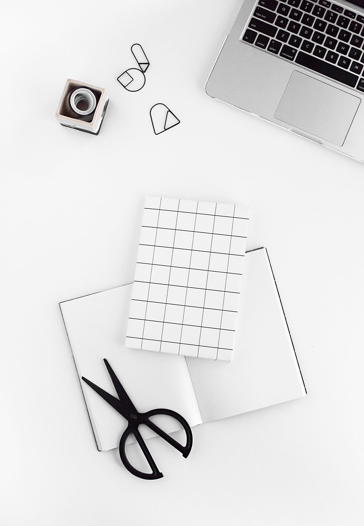 DIY white grid notebook cover- free printable