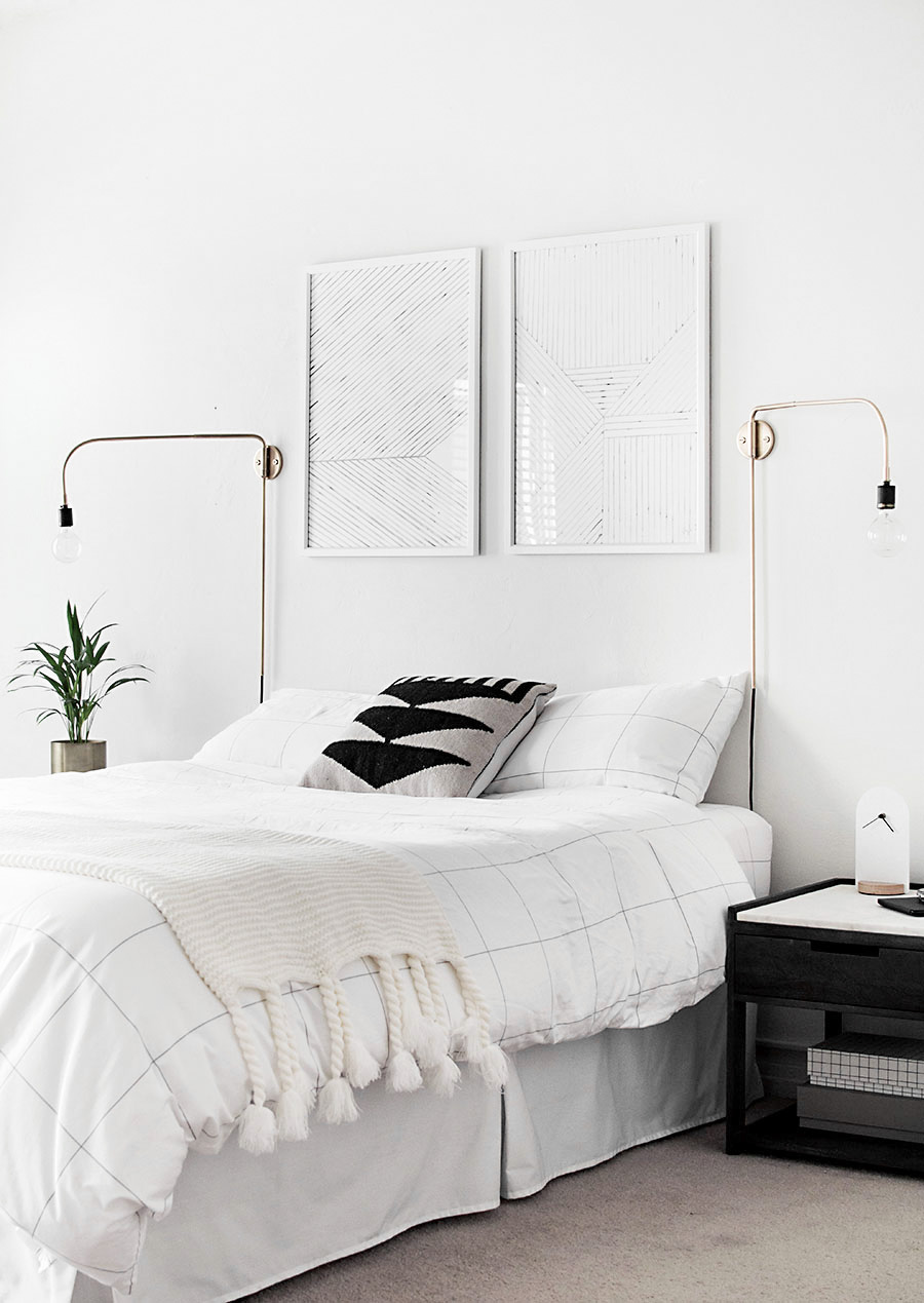 How to achieve a minimal scandinavian bedroom for Minimalist single bedroom